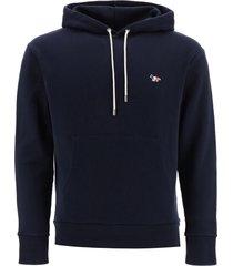 maison kitsuné hoodie with tricolour fox patch