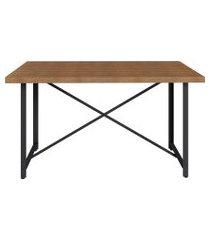 mesa sala de jantar artesano steel light industrial vermont