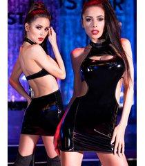 * chilirose latex-look mini jurk