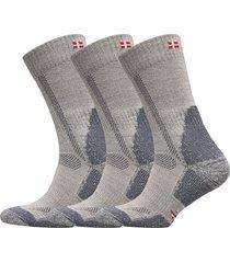 classic merino wool hiking socks 3 pack underwear socks regular socks grå danish endurance