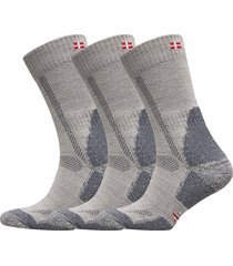 classic merino wool hiking socks 3 pack underwear socks regular socks grå danish endurance
