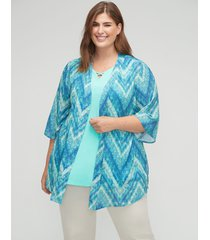 brooksville georgette kimono