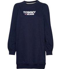 tjw heart logo sweat dress sweat-shirt trui blauw tommy jeans