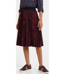 pleated midi-skirt - red - xl