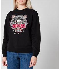 kenzo women's icon classic tiger sweatshirt - black - l