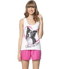 pijama de verão regata coração love lua encantada