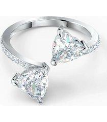 anillo attract soul heart, blanco, baño de rodio 5535191