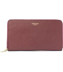avenue 67 bordeaux saffiano wallet