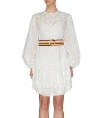 'zinnia' belted applique mini dress