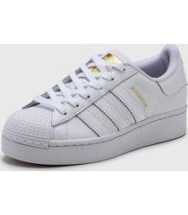 zapatilla blanca adidas originals superstar bold.