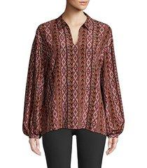 delora silk printed blouse