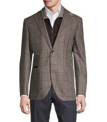 standard-fit houndstooth wool travel jacket