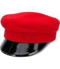 ruslan baginskiy stitched initials military cap - red