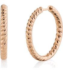 zoe braided hoops - rose gold