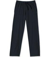 schiesser pyjamabroek jersey blauw-zwart