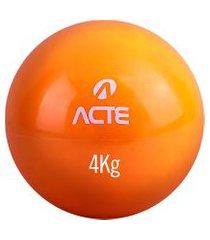 bola tonificadora acte t174 18cm 4kg laranja