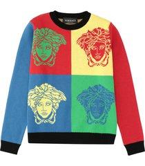 versace cotton crew-neck sweater