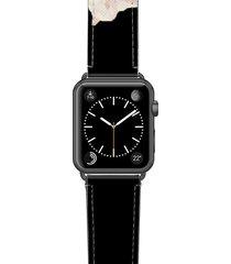 women's casetify sweet pea saffiano faux leather apple watch strap