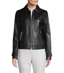 esther leather trucker jacket