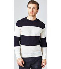 sweter marciano w szerokie paski