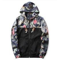 2017 spring jacket men floral bomber zipper jackets flower hip hop patch bomber