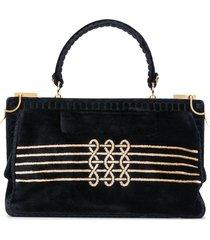 a.n.g.e.l.o. vintage cult 1960s embroidered motif tote bag - black