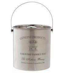 balde de gelo em aço inox com tampa vegas prata 4 litros