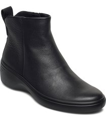 soft 7 wedge w shoes boots ankle boots ankle boot - flat svart ecco