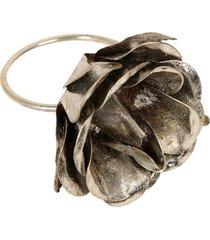 porta-guardanapo artesanal de metal decorativo fleur