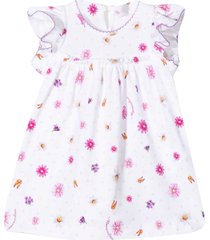 monnalisa floral dress with ruches