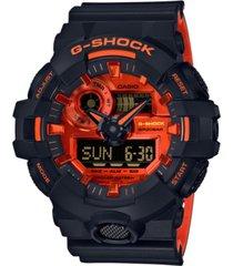 g-shock men's analog-digital black resin strap watch 53.4mm