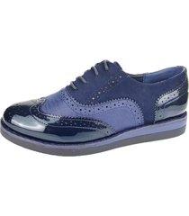 zapato oxford trufa azul chalada