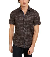 tallia men's slim-fit houndstooth shirt