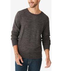 lucky brand men's plaited crew sweater
