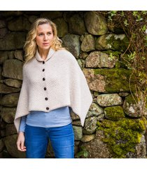the annalee poncho beige one size