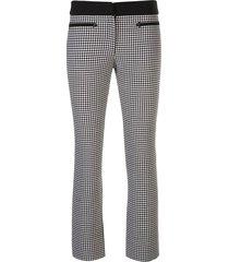 check print cropped pants