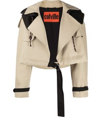 colville oversized belted jacket - neutrals