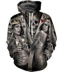 new fashion men/women 3d hoodies print metal skulls bride groom hooded