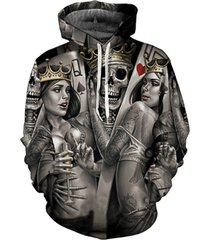 new fashion men/women 3d hoodies print metal skulls bride groom hooded