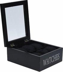 pudełko organizer na okulary czarny