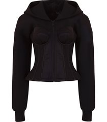 dolce & gabbana technical jersey hoodie