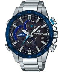 edifice men's solar analog-digital stainless steel bracelet watch 54mm
