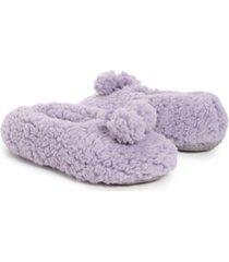 women's moisturized and infused ballerina slipper socks