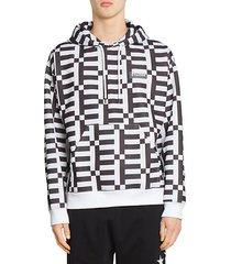 monogram print hoodie