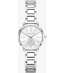 mk orologio portia petite tonalità argento - argento (argento) - michael kors