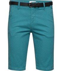 aop chino shorts w. belt shorts chinos shorts blå lindbergh