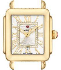 women's michele deco madison mid diamond dial watch head, 29mm x 31mm