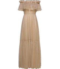 rebecca dress maxiklänning festklänning beige ida sjöstedt