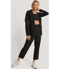 na-kd classic oversized suit pants - black