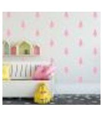 adesivo decorativo de parede - kit com 40 pinheiros - 014kaa14